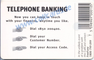 National Irish Bank Callcard (back)