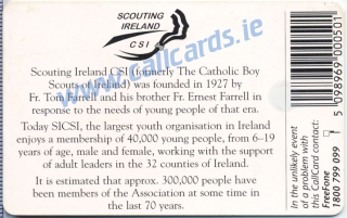 Boy Scouts Callcard (back)