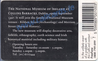 National Museum of Ireland Callcard (back)