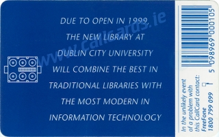 Dublin City University DCU Callcard (back)