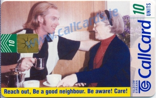Reach Out Campaign 1997 Callcard featuring Ronan Keating (front)