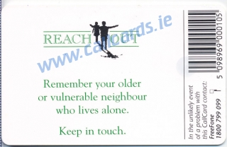 Reach Out Campaign 1997 Callcard featuring Ronan Keating (back)