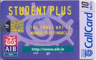AIB Student Plus 1997 Callcard (front)