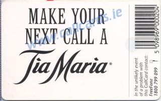 Tia Maria 1997 Callcard (back)