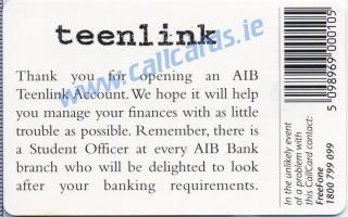 AIB Teenlink Callcard (back)