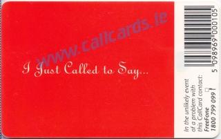Valentines Day (Heart 2 Heart) 1998 Callcard (back)