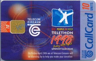 Telethon People in Need 1998 Callcard (front)