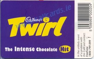 Cadburys Twirl Callcard (back)