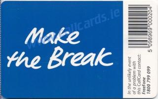 Cadbury's Time Out Callcard (back)