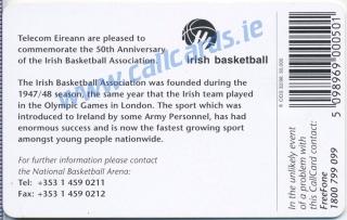 Irish Basketball Callcard (back)