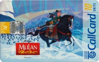 Disney's Mulan Callcard (front)