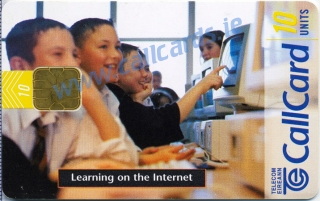 Use Us Today - Learning on the internet Callcard (front)