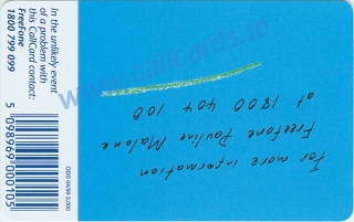 Telecom Eireann Blank Promotion Callcard (back)