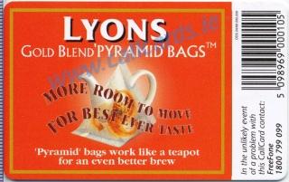 Lyons Tea Callcard (back)