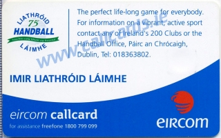 Irish Handball Callcard (back)