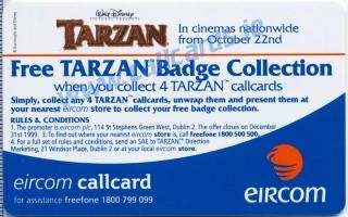 Disney's Tarzan Leaping Callcard (back)