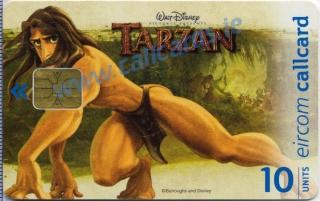 Disney's Tarzan Stretching Callcard (front)