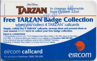Disney's Tarzan & Jane Callcard (back)