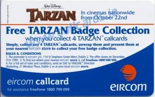 Disney's Tarzan Kantor & Turk Callcard (back)