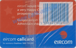 Christmas 1999 Limited Edition Callcard (back)