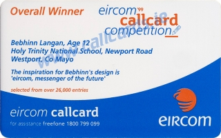 Design a Callcard 1999 Callcard (back)