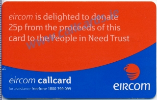 People in Need Telethon 2000 Callcard (back)