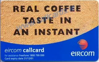 Kenco Coffee Callcard (back)