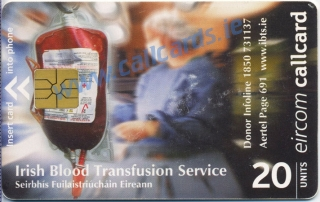 Irish Blood Transfusion Service Callcard (front)