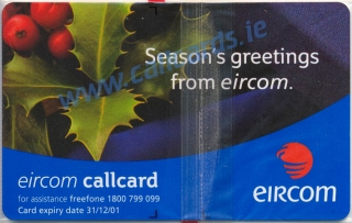 Christmas 2000 Callcard (back)