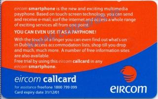 Eircom Smartphone Callcard (back)