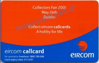 Callcard Collectors Fair 2001 Callcard (back)