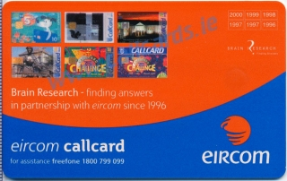 Callcard Collectors Fair 2001 Brain Research Callcard (back)