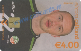 Dean Kiely World Cup 2002 Callcard (front)