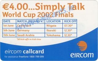 Dean Kiely World Cup 2002 Callcard (back)