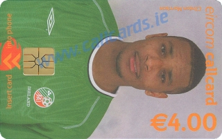 Clinton Morrison World Cup 2002 Callcard (front)