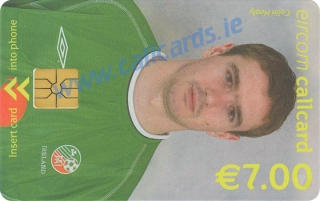 Colin Healy World Cup 2002 Callcard (front)