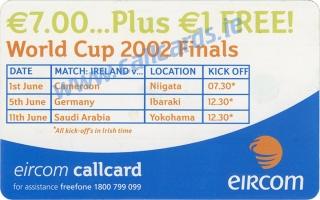Matt Holland World Cup 2002 Callcard (back)