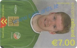 Steve Staunton World Cup 2002 Callcard (front)
