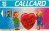 St. Valentines Day 1993 Callcard (front)