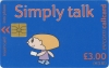 Simply Talk £3 Callcard (front)